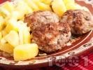 Рецепта Печени сочни домашни кюфтета на скара с лук, магданоз и кимион